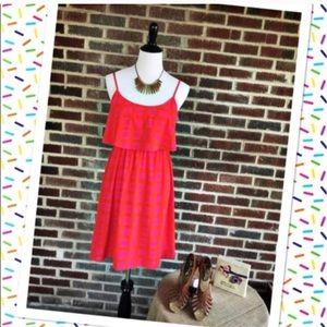 Peach Love California Color Block Dress Size Med